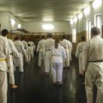 Dojo presso il Centro Civico Buranello di Genova. Lezione aperta al pubblico in occasione del 10° anniversario di SU HA RI KAN.