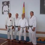 Da sx: M° Aurelio Verde, M° Wim Massee, Prof. Tatsuo Suzuki, M° Mathieu Beysen.