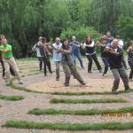 Giardini di Kunming.  Energia  fortissima durante la  pratica.