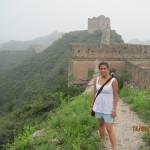 ....Michela dopo aver percorso una piccola parte dei 6000 Km circa di muraglia....