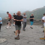 Tai Chi on the Great Wall of China.