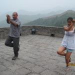 Sulla muraglia cinese si può fare anche Karate...