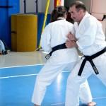 Mario Mozzato e Michela Verde:  2° kihon kumite.