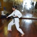 C.A.S.K.(Centri Alta Specializzazione Karate) Fesik Liguria. Michela prova (e riprova) il kata Wanshu.
