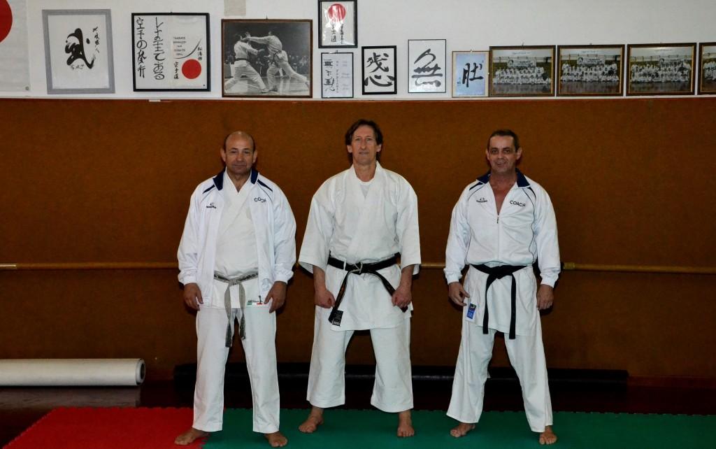 M° Verde, M° Cresio, M° Regina - docenti C.A.S.K. (Centri Alta Specializzazione Karate) - Fesik Liguria