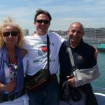 Sul battello dal Porto Antico per Portofino   con Luisanna e Paolo.