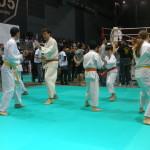 Dimostrazione di tecniche in coppia codificate (san bon kumite).