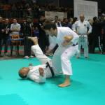 Juyu kumite . Marco M. conclude la proiezione  con gyaku tsuki.
