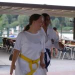 Elisa e Michela  partecipano con entusiasmo...