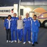 Parigi Camp. Europei 2007 - Si ritorna stanchi e soddisfatti. da sx: Michela, Alessio. Stefano, Mirko e Christian.