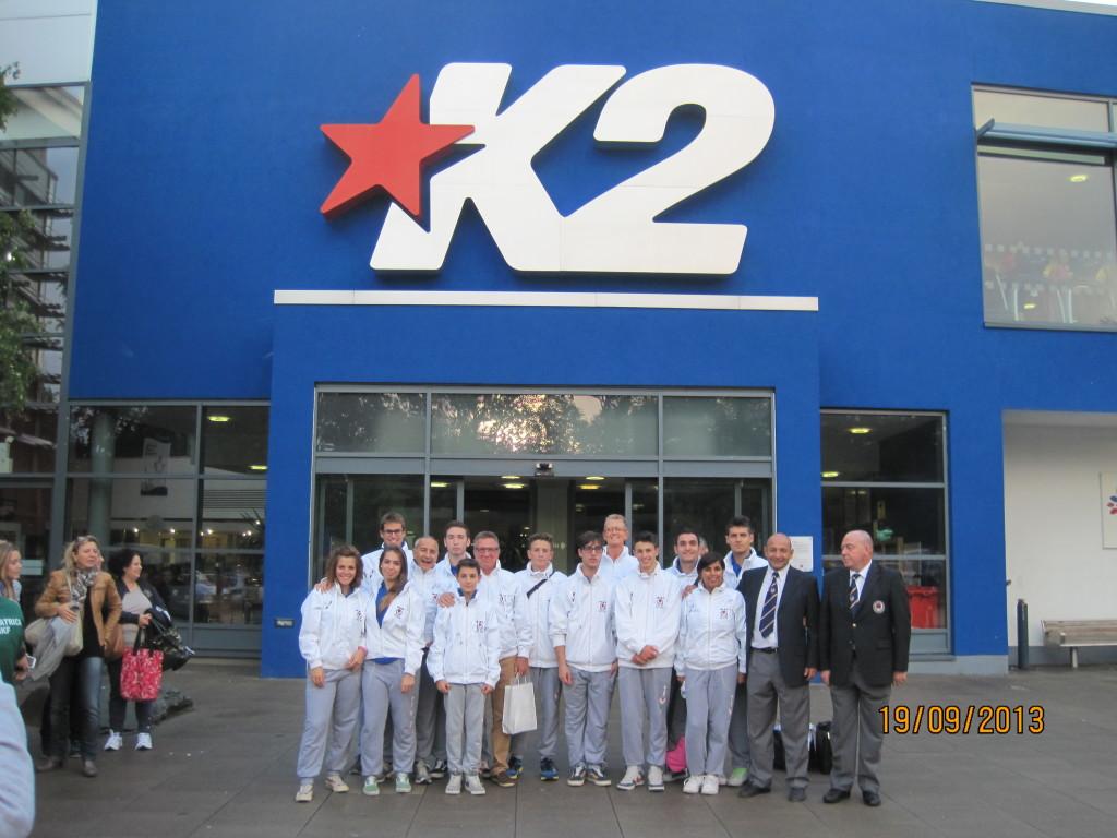 Squadra Wikf Italia al K2 Sport Hall di Londra