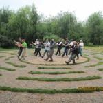 Pratica di Taiji Quan nei giardini di Kunming (Yunnan - Cina).