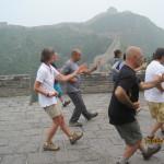 Taiji Quan sulla muraglia cinese.   Stile Wu.