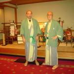 Stazione termale di Gero. Il M° Verde e il Prof Suzuki.