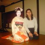 Kyoto. Michela con geisha
