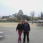 Laura e Aurelio. Sullo sfondo Himeji Castle.