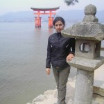 Michela al Miyajima Temple.