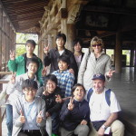 Miyajima Temple   con turisti giapponesi.