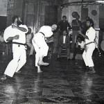 1977 - Una delle prime esibizioni (da sx. M° Verde,  R.Parodi, G.Benzi)