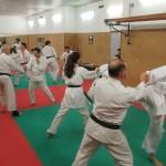 Allenamento di Karate Wado Ryu al Centro Civico Buranello di Genova.