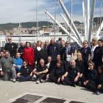 Ecco il gruppo del C.D.O.  SU HA RI KAN!  Ospite gradito il  caro amico M° C.Cosentino di Sanremo (in kimono grigio).